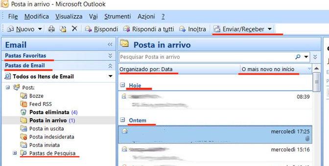 Microsoft Outlook 2007 – 2010: alcune voci del menu sono in  portoghese o spagnolo