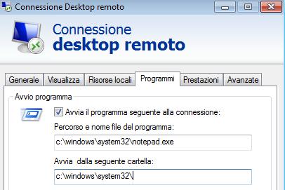 Desktop remoto con Windows  Server 2016 RDP: Come avviare automaticamente un programma al login