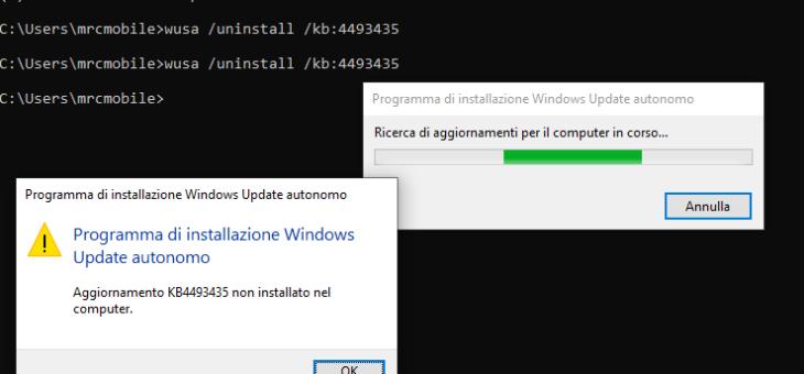 Sophos e windows update. Pc rallentato o impossibilità di caricare il sistema operativo
